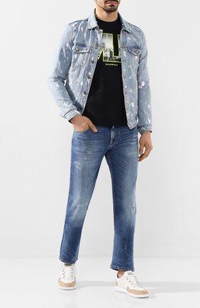 Мужская джинсовая куртка DOM REBEL голубого цвета, арт. DRIBBLE/JEAN JACKET   Фото 2