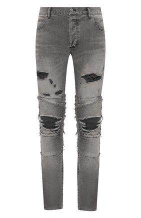 Мужские джинсы BALMAIN темно-серого цвета, арт. TH05385/Z063 | Фото 1