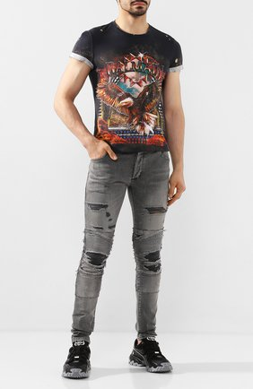 Мужские джинсы BALMAIN темно-серого цвета, арт. TH05385/Z063 | Фото 2