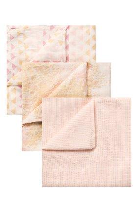 Детского комплект из 3-х пеленок ADEN+ANAIS розового цвета, арт. 9216 | Фото 1