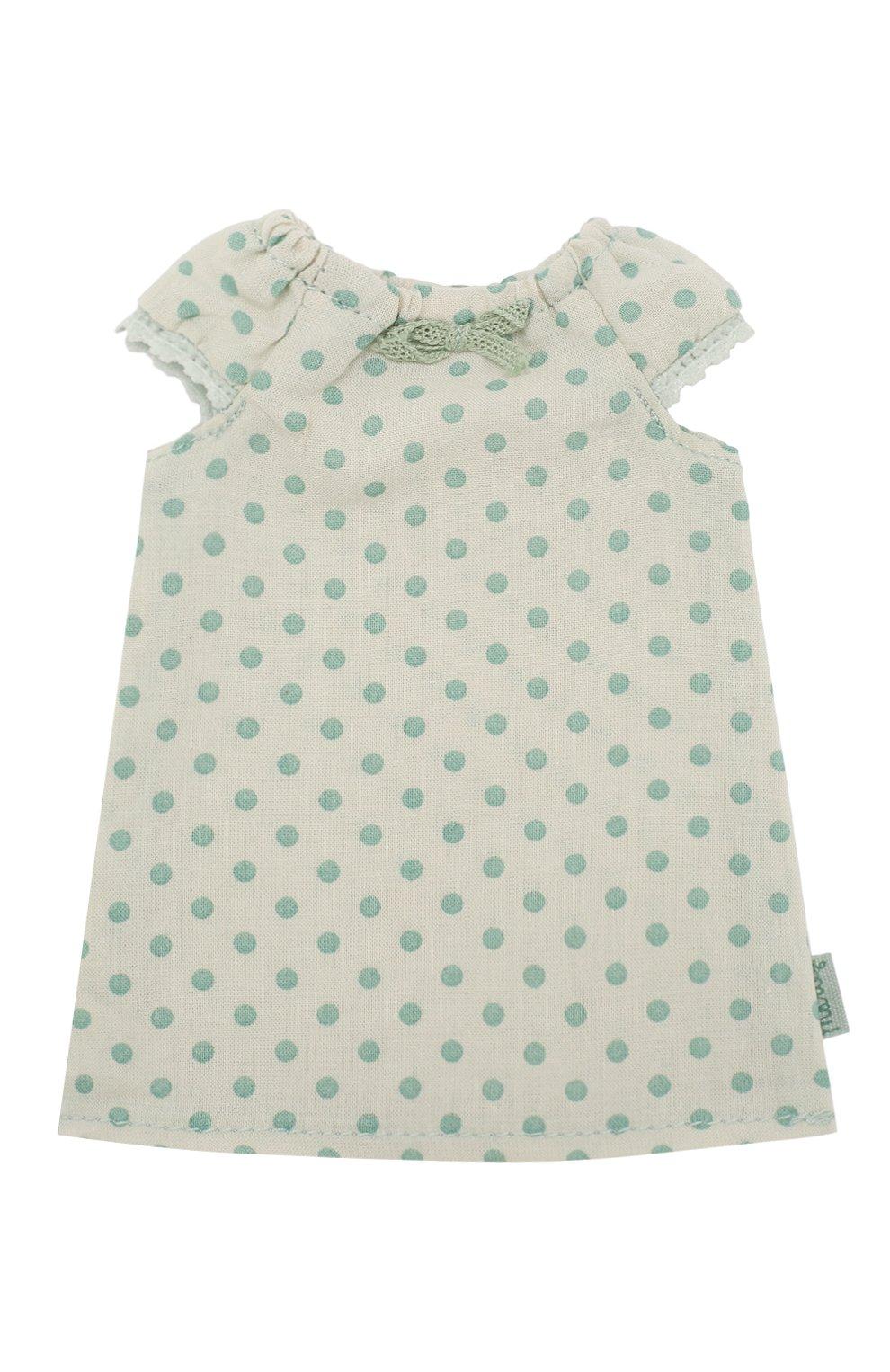 Детского одежда для игрушки ночная рубашка 2 MAILEG зеленого цвета, арт. 16-9203-01   Фото 1
