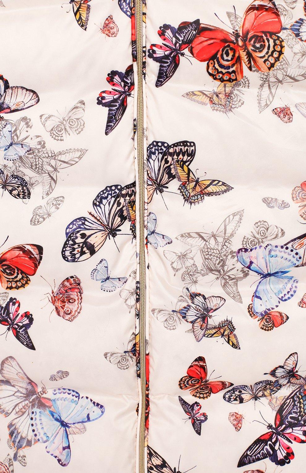 Детский пуховый конверт-комбинезон бабочки CHEPE разноцветного цвета, арт. 391672 | Фото 3