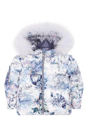 Комплект из пуховой куртки и комбинезона Сиреневый сад | Фото №2