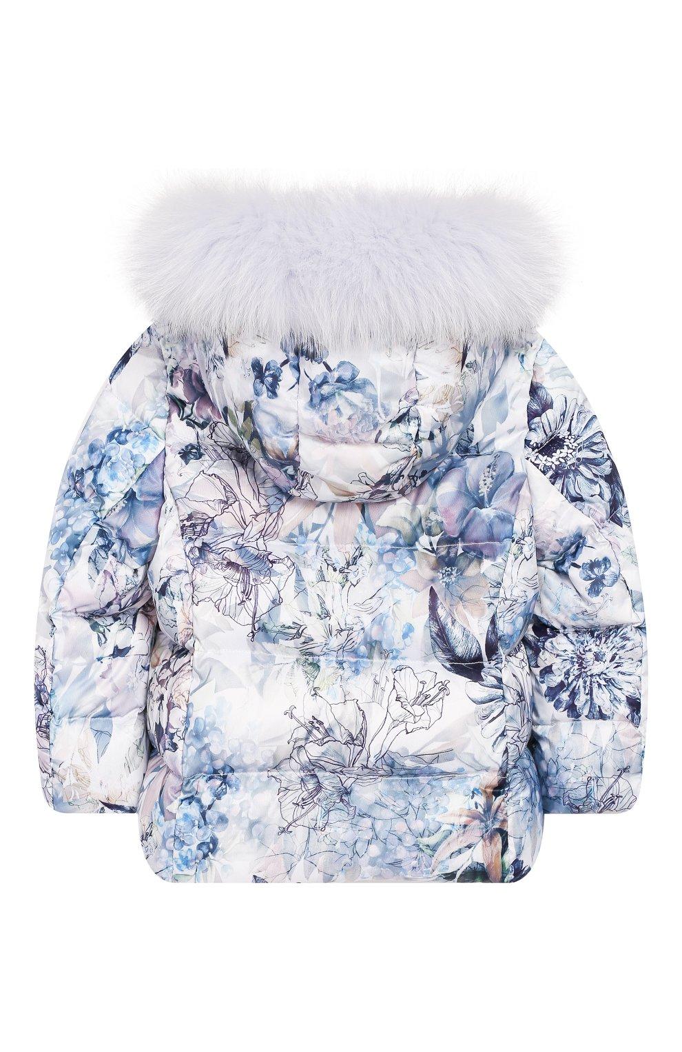 Комплект из пуховой куртки и комбинезона Сиреневый сад   Фото №3