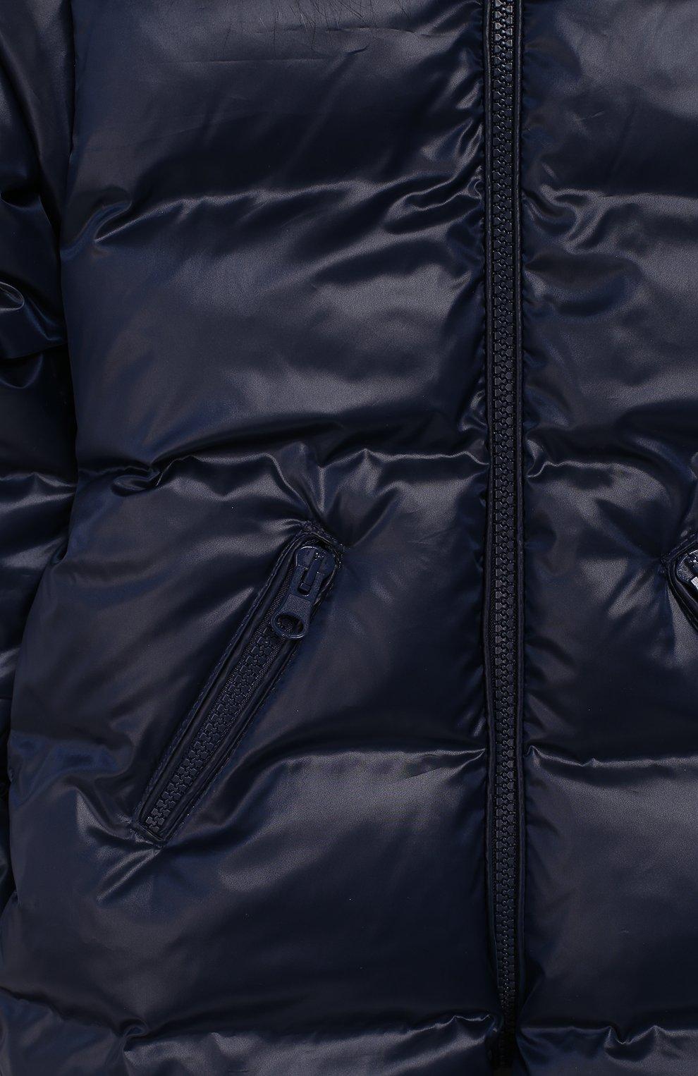 Детский пуховый комбинезон классика CHEPE темно-синего цвета, арт. 391074 | Фото 3