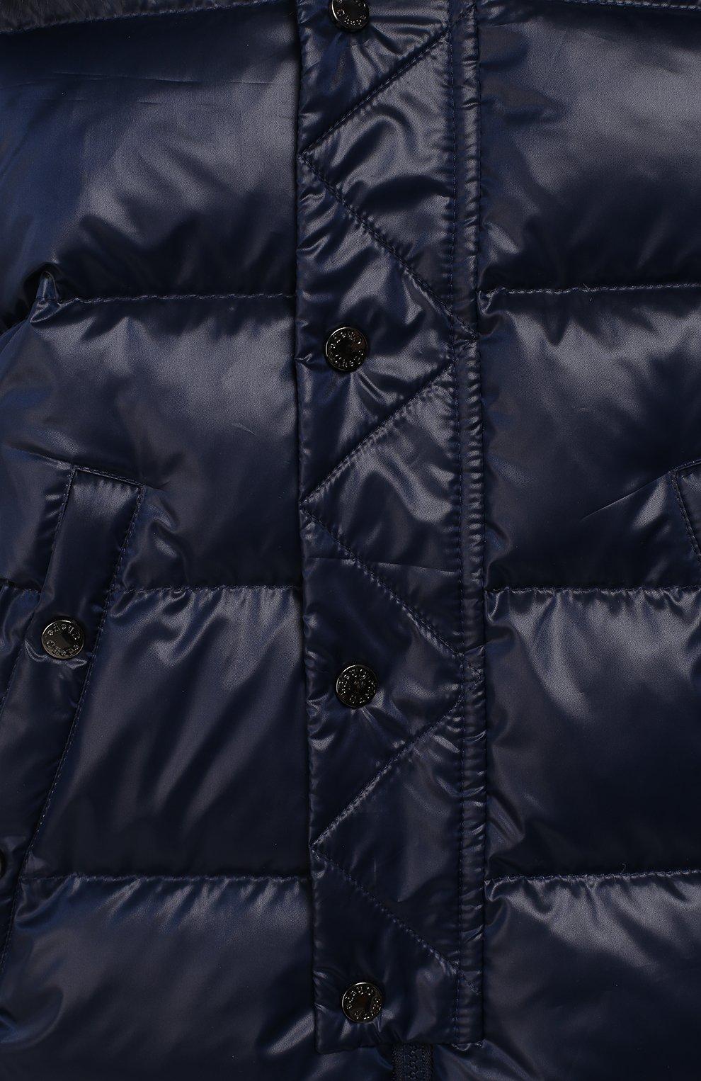 Детский пуховый комбинезон классика CHEPE темно-синего цвета, арт. 391073 | Фото 3