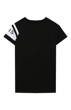 Детская хлопковая футболка GIVENCHY черного цвета, арт. H25173 | Фото 2