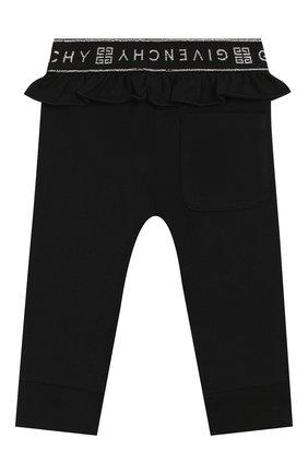 Детские леггинсы GIVENCHY черного цвета, арт. H04073 | Фото 2