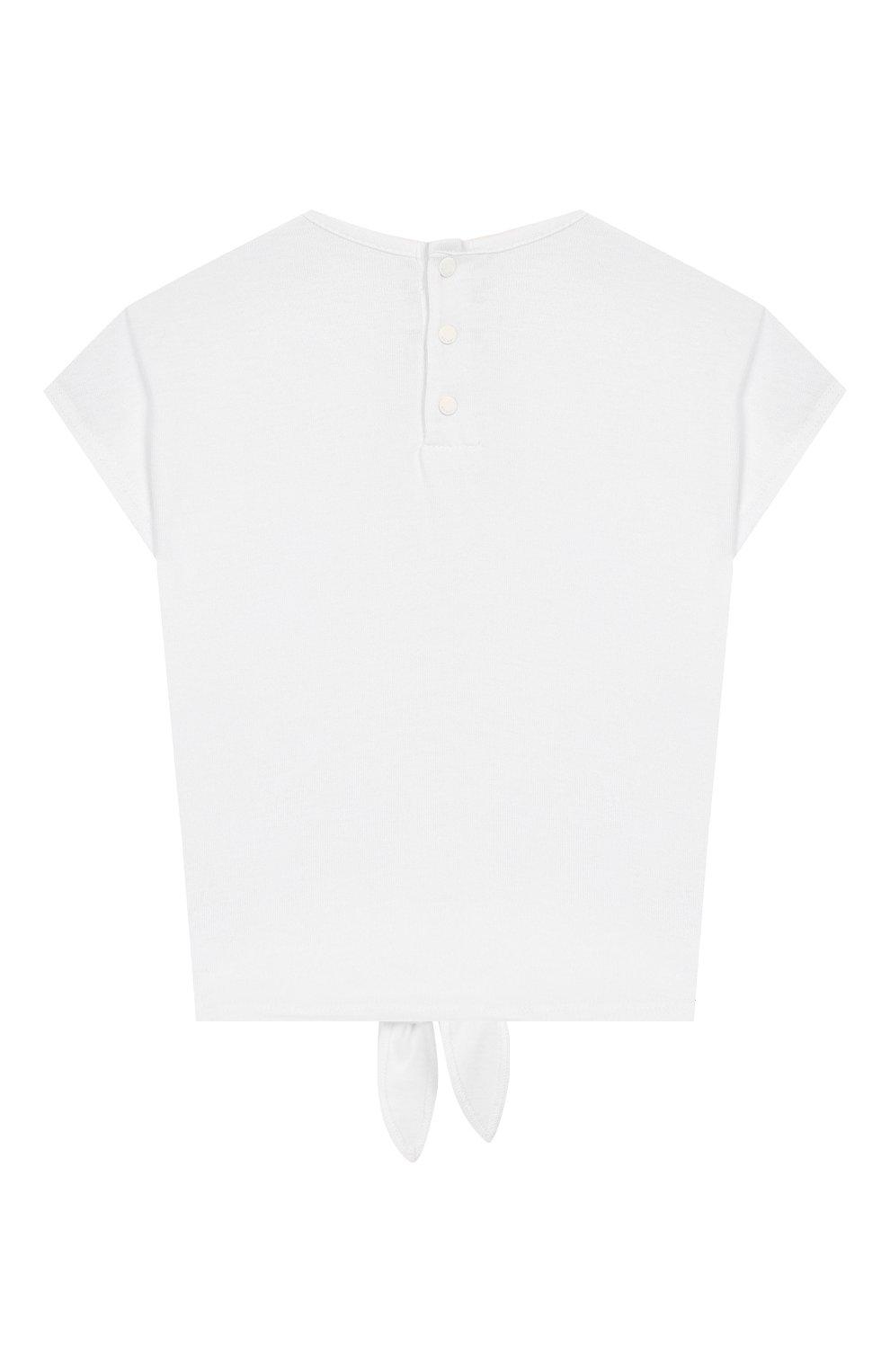 Детский хлопковая футболка GIVENCHY белого цвета, арт. H05123 | Фото 2