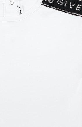 Детский хлопковая футболка GIVENCHY белого цвета, арт. H05123 | Фото 3