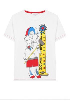 Детская хлопковая футболка MARC JACOBS (THE) белого цвета, арт. W25414 | Фото 1