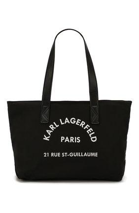 Детская сумка KARL LAGERFELD KIDS черного цвета, арт. Z10076 | Фото 1