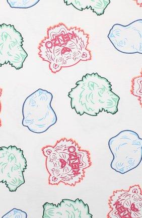 Детская хлопковая футболка KENZO разноцветного цвета, арт. KQ10248 | Фото 3