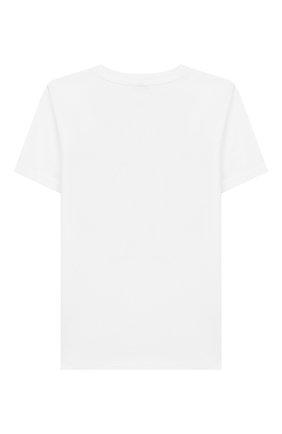 Детская хлопковая футболка KENZO белого цвета, арт. KQ10518 | Фото 2