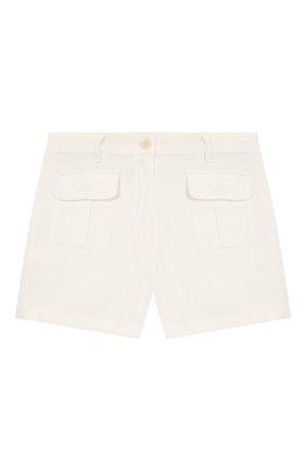 Детские хлопковые шорты LORO PIANA белого цвета, арт. FAI9438 | Фото 1