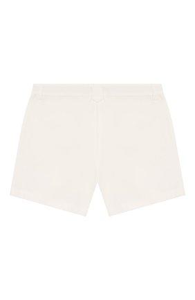 Детские хлопковые шорты LORO PIANA белого цвета, арт. FAI9438 | Фото 2