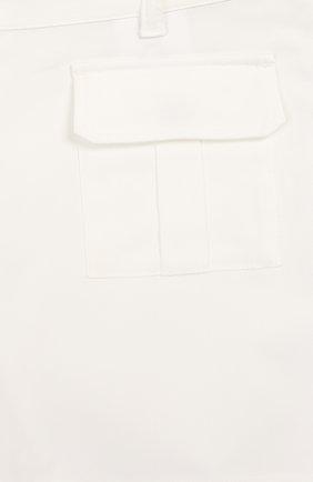 Детские хлопковые шорты LORO PIANA белого цвета, арт. FAI9438 | Фото 3
