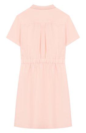 Детское льняное платье LORO PIANA светло-розового цвета, арт. FAI9381 | Фото 2