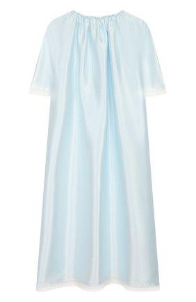 Детская шелковая сорочка AMIKI CHILDREN голубого цвета, арт. ANT0NIA | Фото 2