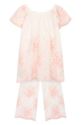 Детская хлопковая пижама AMIKI CHILDREN белого цвета, арт. KELLY | Фото 1