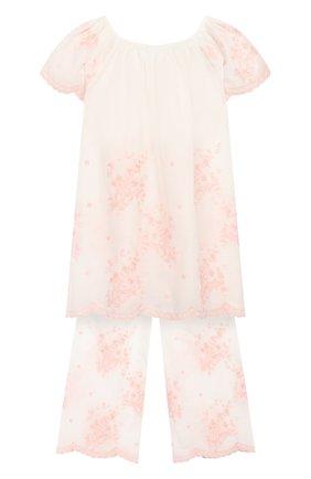 Детская хлопковая пижама AMIKI CHILDREN белого цвета, арт. KELLY | Фото 2
