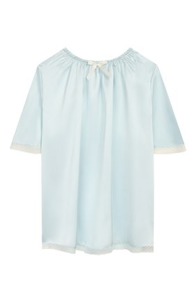 Детская шелковая пижама AMIKI CHILDREN голубого цвета, арт. MARITE | Фото 2