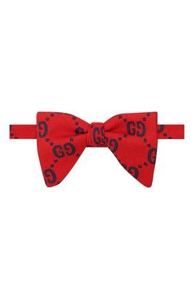 Детский галстук-бабочка из шерсти и шелка GUCCI красного цвета, арт. 532265/4K515 | Фото 1