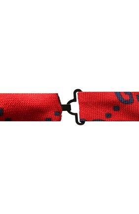 Детский галстук-бабочка из шерсти и шелка GUCCI красного цвета, арт. 532265/4K515 | Фото 2