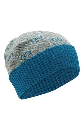 Детского шапка из хлопка и шерсти GUCCI голубого цвета, арт. 574720/4K208 | Фото 1