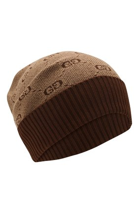 Детского шапка из хлопка и шерсти GUCCI коричневого цвета, арт. 574720/4K208 | Фото 1