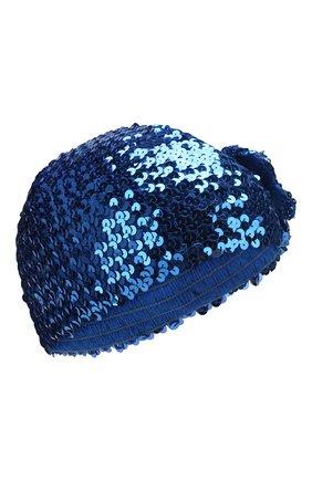 Детского шапка GUCCI синего цвета, арт. 610952/4K023 | Фото 1
