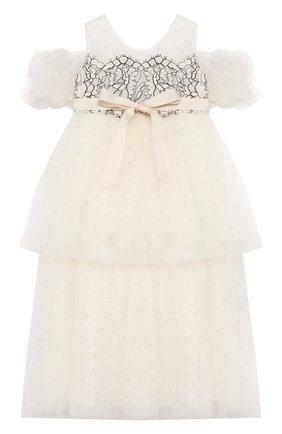 Детское платье DESIGNERS CAT бежевого цвета, арт. 100000K01000420/2A | Фото 1