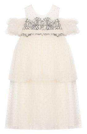 Детское платье DESIGNERS CAT бежевого цвета, арт. 100000K01000420/2A | Фото 2
