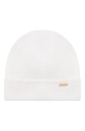 Детского хлопковая шапка IL TRENINO белого цвета, арт. 20 6353/E0 | Фото 1