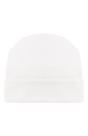 Детского хлопковая шапка IL TRENINO белого цвета, арт. 20 6353/E0 | Фото 2