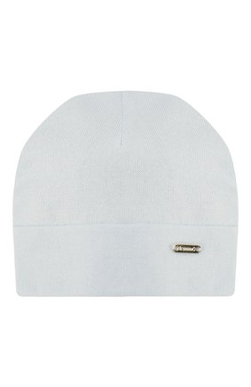 Детского хлопковая шапка IL TRENINO голубого цвета, арт. 20 6353/E0 | Фото 1