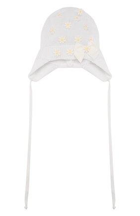 Детского хлопковая шапка IL TRENINO белого цвета, арт. 20 6602/E0 | Фото 1