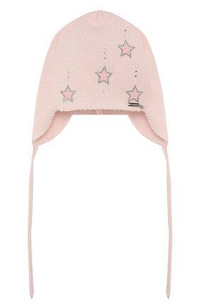 Детского хлопковая шапка IL TRENINO розового цвета, арт. 20 6604/E0 | Фото 1