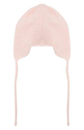 Детского хлопковая шапка IL TRENINO розового цвета, арт. 20 6604/E0 | Фото 2