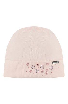 Детского хлопковая шапка IL TRENINO розового цвета, арт. 20 6605/E0 | Фото 1