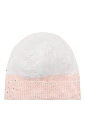 Детского хлопковая шапка IL TRENINO розового цвета, арт. 20 6620/E0 | Фото 2