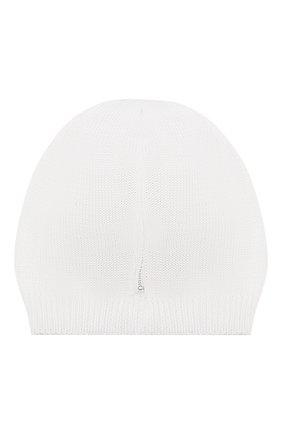 Детского хлопковая шапка IL TRENINO белого цвета, арт. 20 6642/E0 | Фото 2