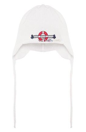 Детского хлопковая шапка IL TRENINO белого цвета, арт. 20 6644/E0 | Фото 1