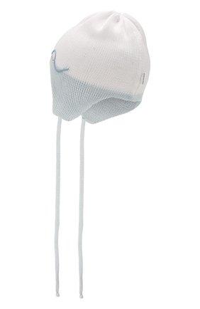 Детского хлопковая шапка IL TRENINO голубого цвета, арт. 20 6647/E0 | Фото 2