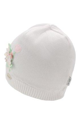Детского хлопковая шапка IL TRENINO белого цвета, арт. 20 6716/E0 | Фото 2