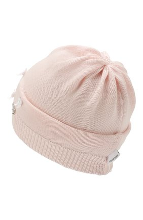 Детского хлопковая шапка IL TRENINO розового цвета, арт. 20 6717/E0 | Фото 2