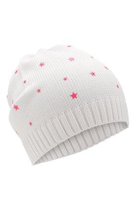 Детского хлопковая шапка IL TRENINO белого цвета, арт. 20 6807/E0 | Фото 1