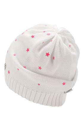 Детского хлопковая шапка IL TRENINO белого цвета, арт. 20 6807/E0 | Фото 2