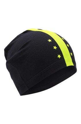 Детского хлопковая шапка IL TRENINO темно-синего цвета, арт. 20 6869/E0 | Фото 1