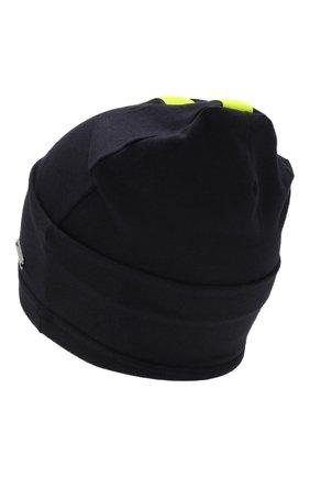 Детского хлопковая шапка IL TRENINO темно-синего цвета, арт. 20 6869/E0 | Фото 2
